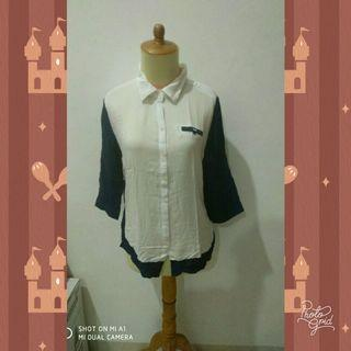 #reprice #1010flazz #joinoktober White N Blue Shirt by AKO