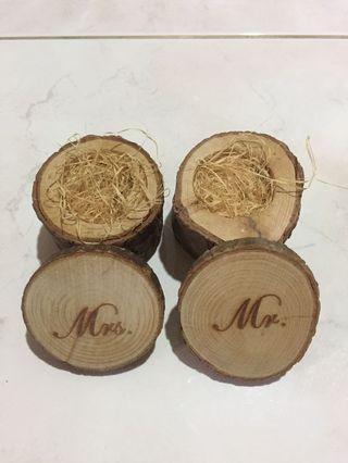 RUSTIC WOODEN WEDDING RING BOX