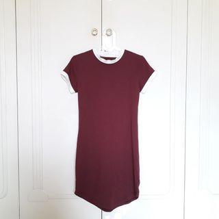 #JoinOktober Maroon Midi Dress