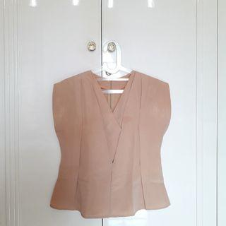 #JoinOktober Brown Choco Drape Kimono Style Top