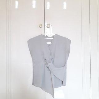 #JoinOktober Grey Crepe Kimono Style Top