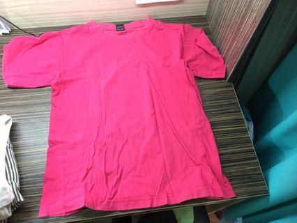 粉色純棉上衣