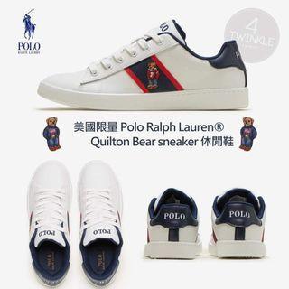 Polo Ralph Lauren刺繡小熊專櫃款小白鞋#39