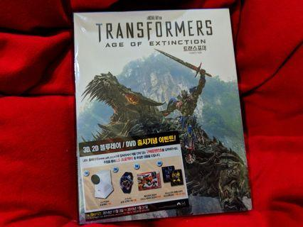 Transformers Age of Extinction Steelbook 3D + 2D Blu Ray For Sale