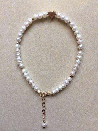 天然珍珠手鍊