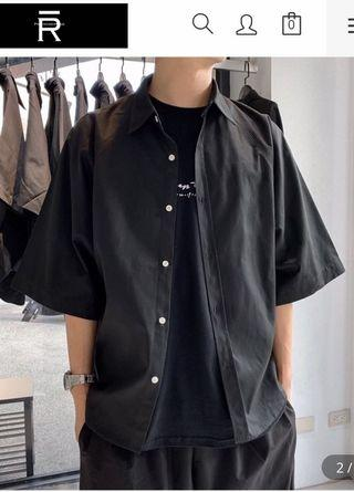 DROP SHOULDER SLEEVE SHIRT