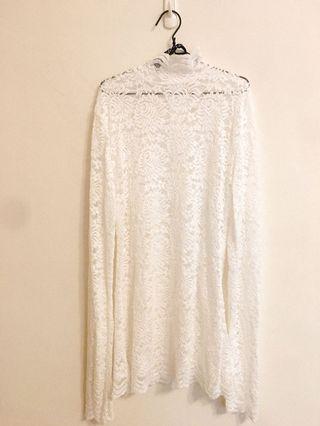 韓國製浪漫蕾絲上衣