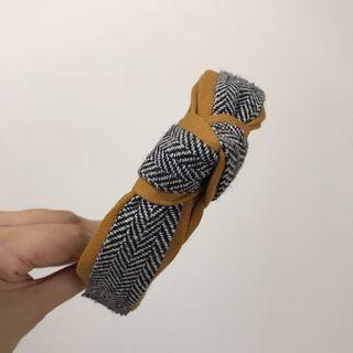 🏫學院風🏫 英倫學院風 格紋扭結髮箍、髮飾
