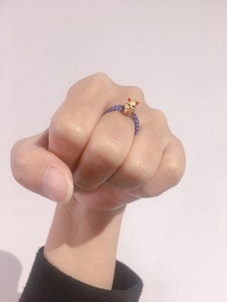 愛漂亮招人緣黃金小狐狸戒指