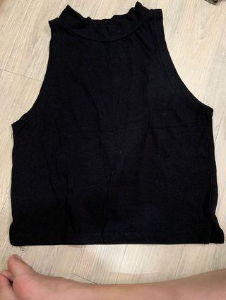 二手服飾-短版背心(黑)