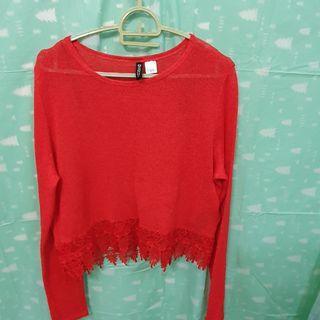 H&M Red crop top