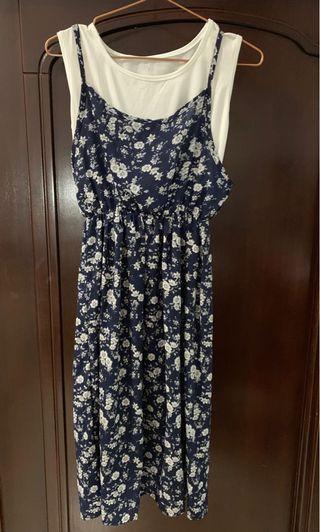 假兩件式韓版碎花洋裝  #五折清衣櫃