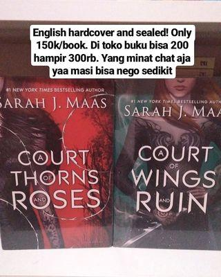 Court of thorns roses wings and ruin hardcover Sarah j maas