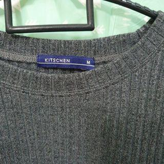 Grey cotton crop top