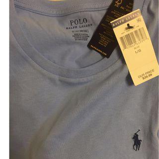 Polo Ralph Lauren 成年版小馬素面T-藍色
