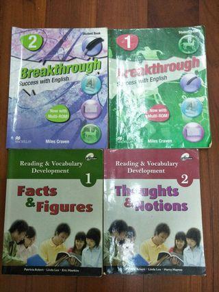4本250Breakthrough 英文課本