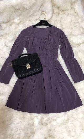 9.5成新/品牌深紫超美洋裝/適L內