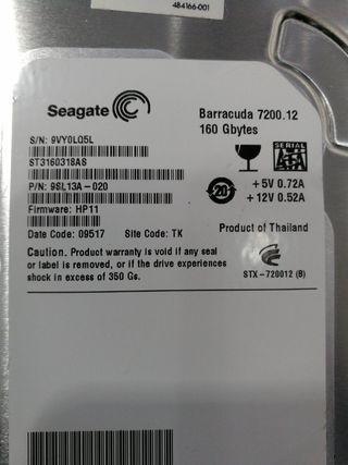 Hard disk Seagate 160GB 7200rpm