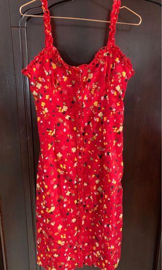 🎉換季出清🎉紅碎花肩帶洋裝