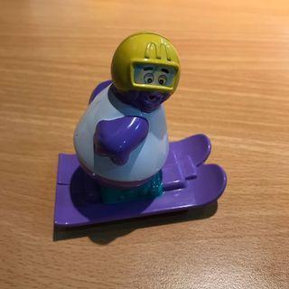 麥當勞絕版玩具 1997年奶昔大哥 滑雪選手
