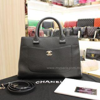 Chanel Black Grained Calfskin Neo Executive Tote