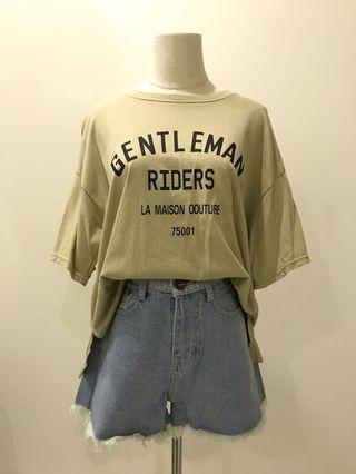 【現貨實拍-夏10%off】復古淺綠字母上衣