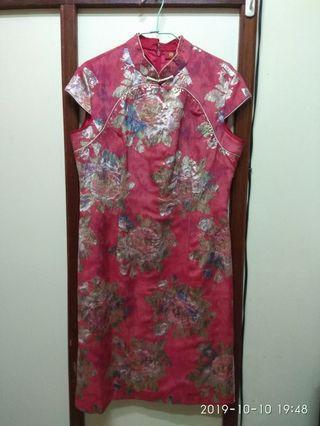 媽媽的衣櫃系列-復古喜洋洋旗袍