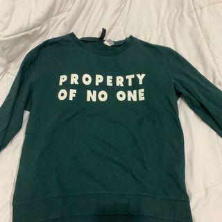 H&M Dark Green Sweatshirt