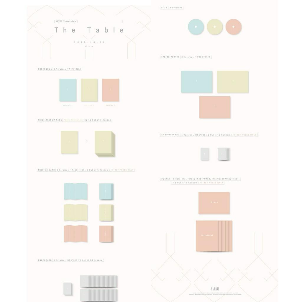 [1 VER] NU'EST - THE TABLE + FREE FOLDED POSTER + FREE SHIPPING