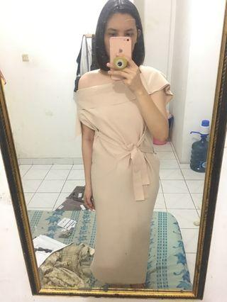 shopetni beige anna dress