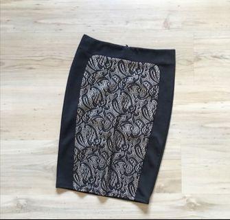 Nichii Midi Pencil OL Lace Skirts