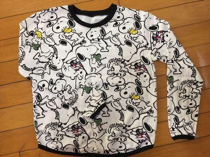 Snoopy滿版長袖上衣