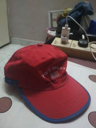 Vintage Polo Sport Ralph Lauren Red Cap
