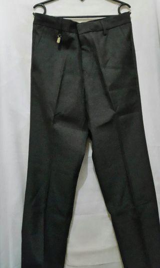 Celana Bahan Pria abu abu tua