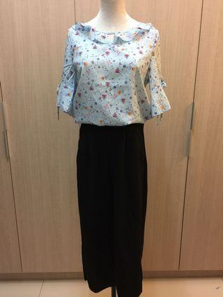 B0268 Floral Top and Pant
