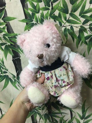 全新粉紅熊娃娃