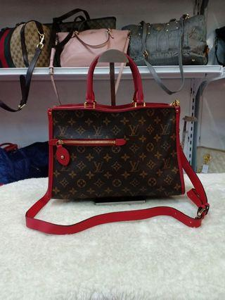 LV Louis Vuitton Monogram Popincourt Handbags Red
