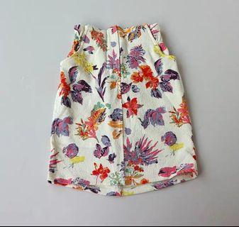 Colorful Floral Print Skirt