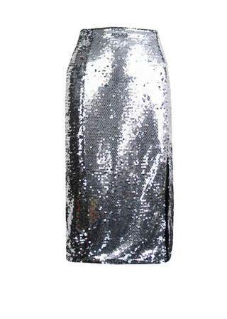 Flirty Silver Glitter Skirt