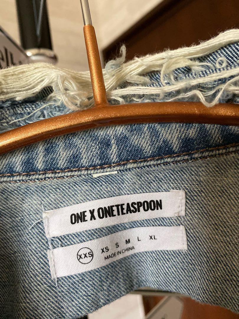 9.5成新 ONE X ONETEASPOON 時尚單寧外套