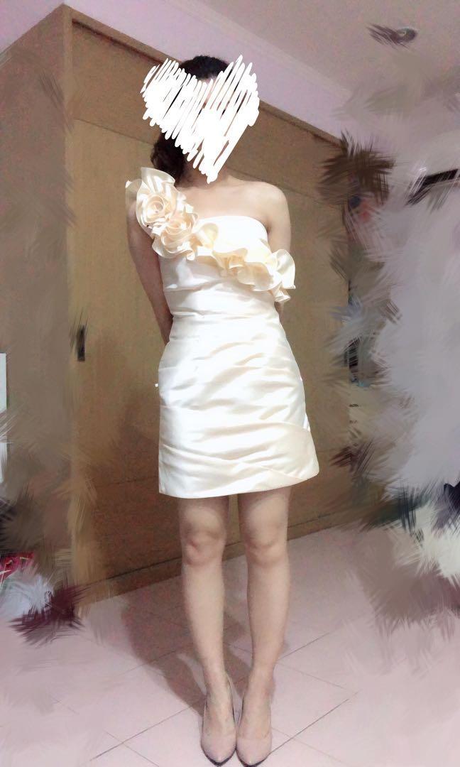 立體花朵短洋裝 小禮服