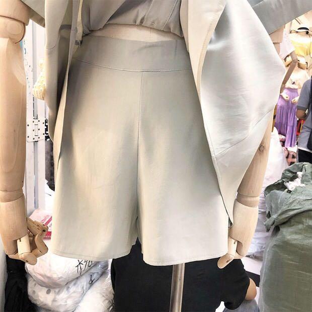 雪紡束腰顯瘦兩件套裙褲