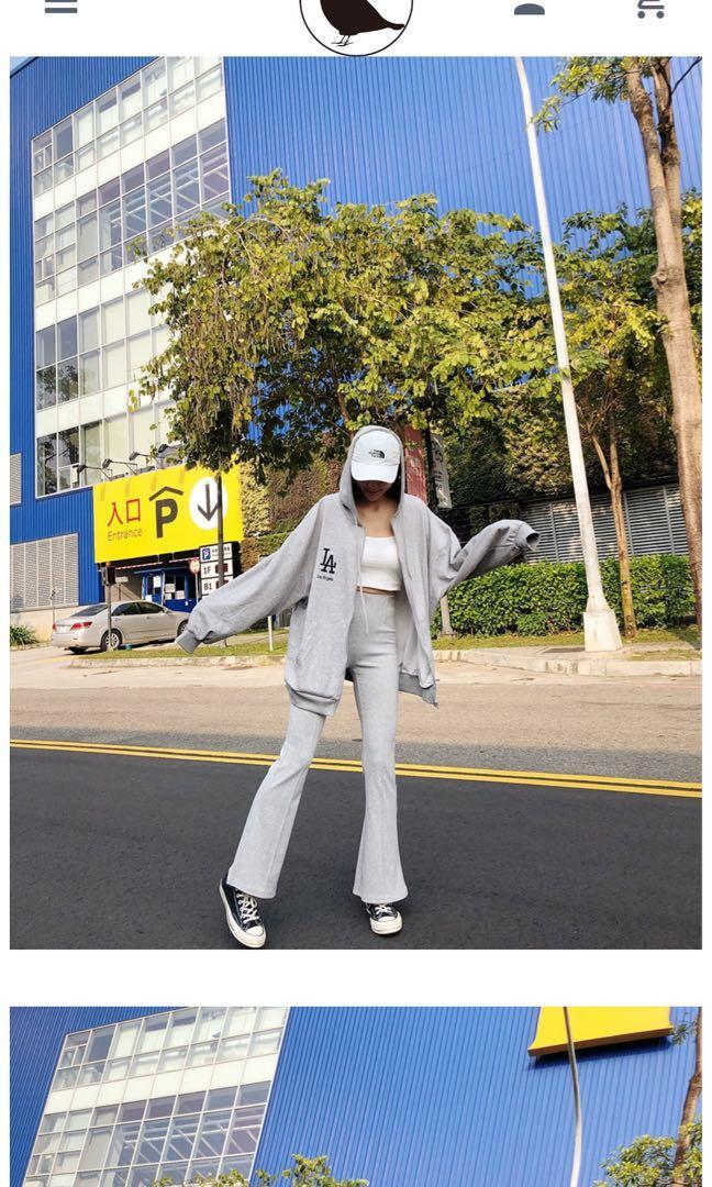 爆顯瘦喇叭棉褲 (全新)