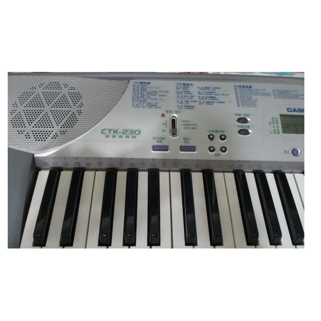 清倉 近全新 CASIO(卡西歐) CTK-230 電子琴