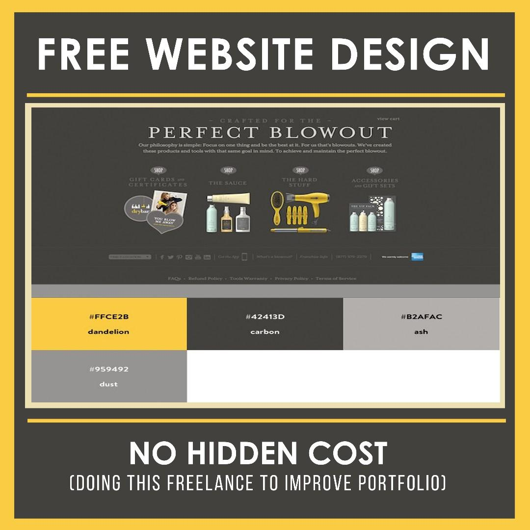 🌊 FREE WEBSITE DESIGN (FOR SMEs & START-UPS)