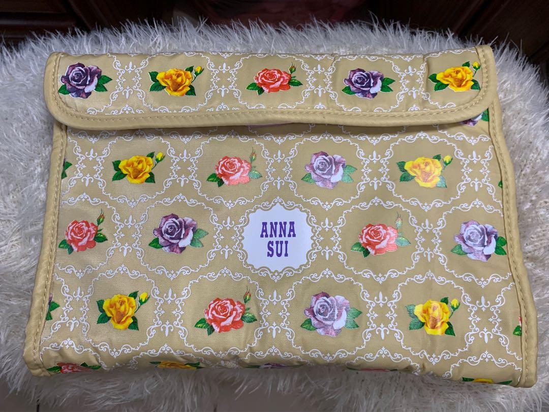 ANNA SUI 旅行收納包 黃色