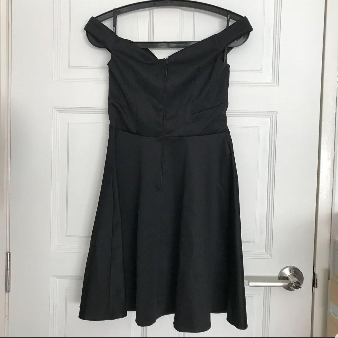 ASOS Off Shoulder Black Dress