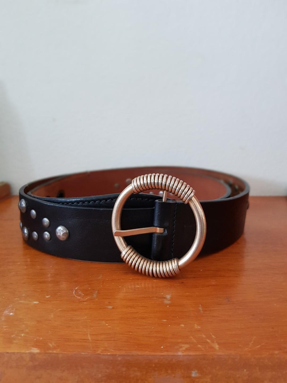 Authentic vintage Dolce & Gabbana Black leather studded belt