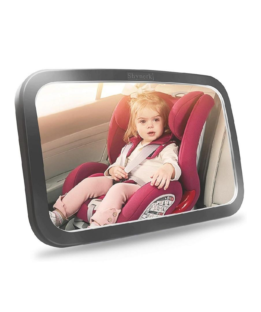Baby Car Mirror, Safety Car Seat Mirror for Rear Facing Infant with Wide Crystal Clear View