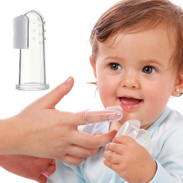 Baby ToothBrush Soft Silicone Finger with Casing